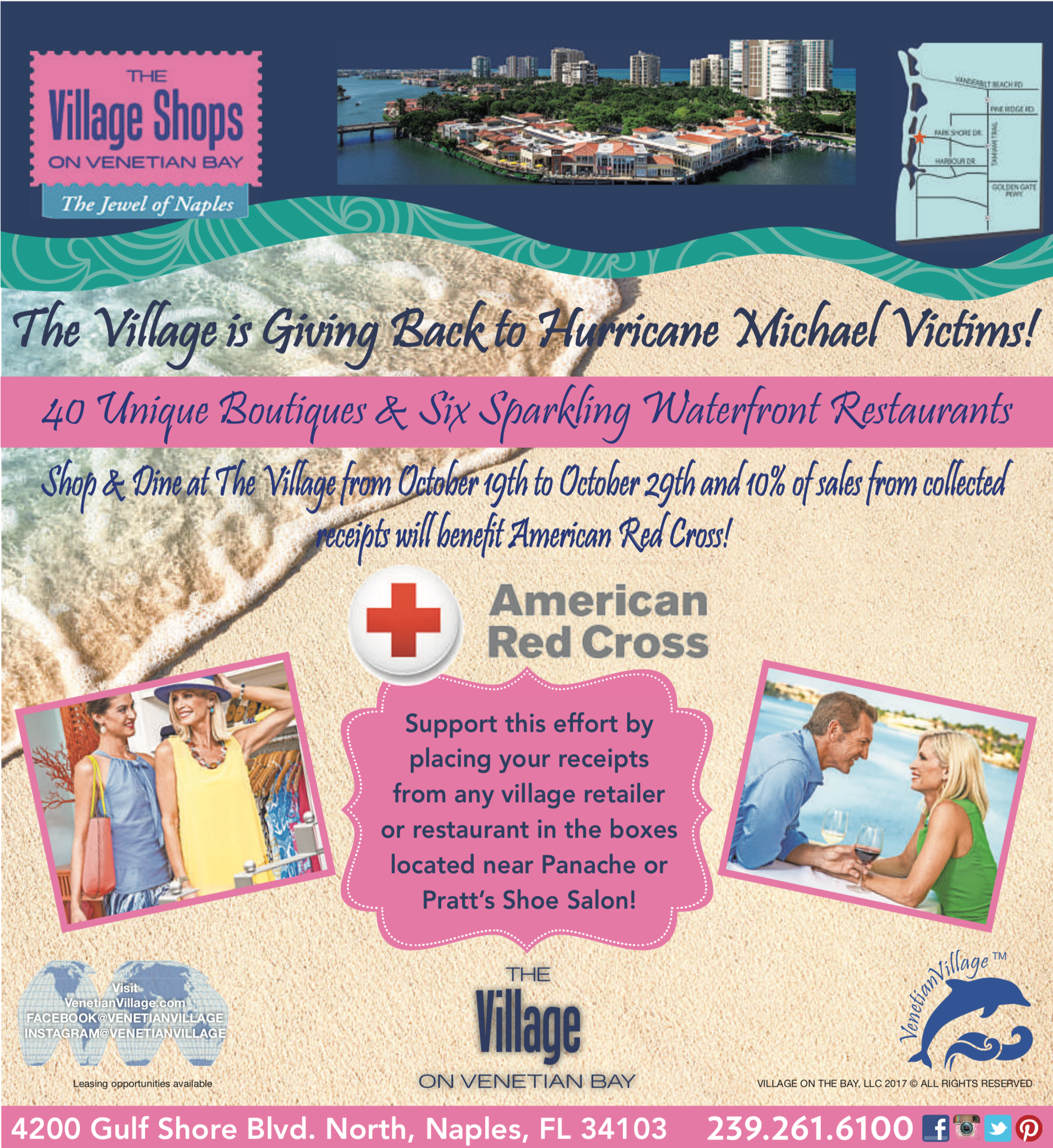 Shop For A Cause: The Village Shops on Venetian Bay is Giving Back to Hurricane Michael Victims!
