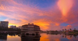 M Waterfront Grille Sunset
