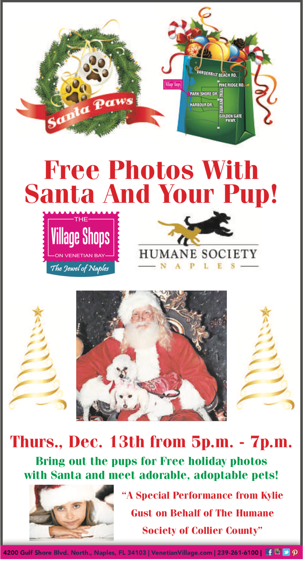 Santa Paws at The Village Shops on Venetian Bay
