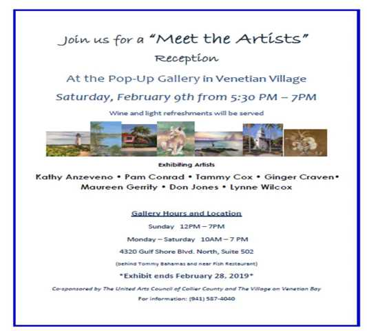 The Pastel Society, Pop up gallery reception