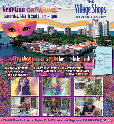 Venetian Carnival at The Village Shops on Venetian Bay, Waterfront events, Naples, Florida Events