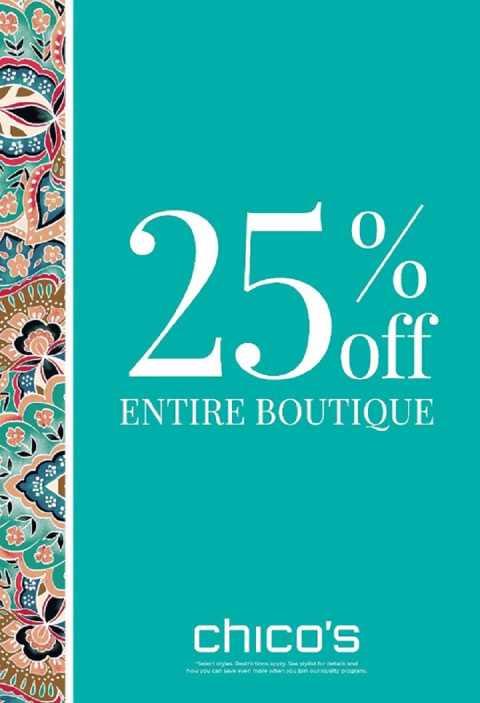 25% off Entire Boutique large