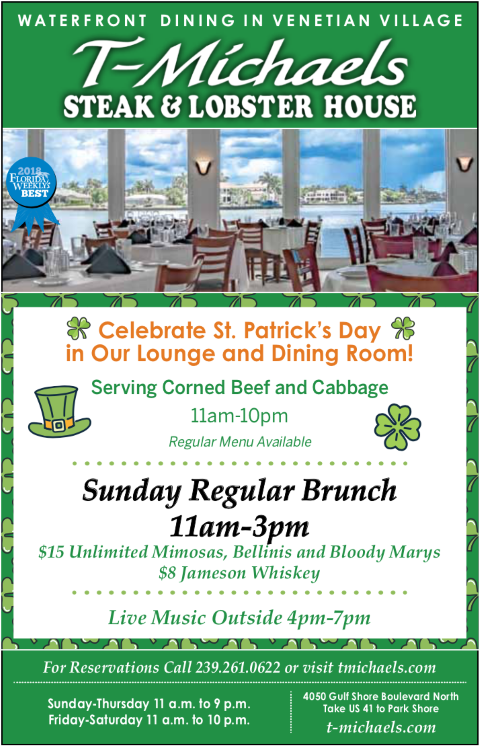 T-Michaels Steak & Lobster House, St. Patrick's Day Event