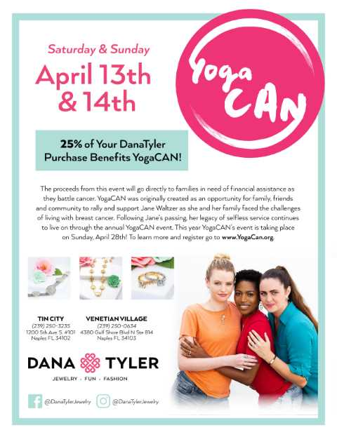 YogaCAN in-store event at DanaTyler, DanaTyler at The Village Shops, Naples Shopping, Waterfront Shopping, Jewelry